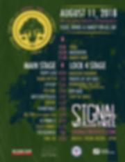 Signal Tree Poster - Schedule - BIZARROS