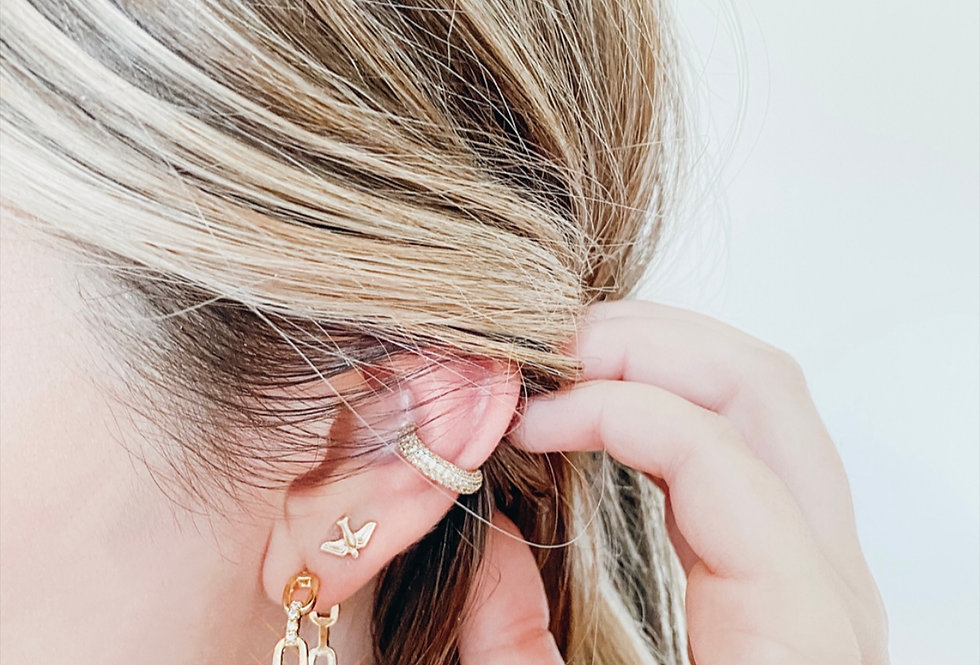 CZ Single Ear Cuff -No Piercing