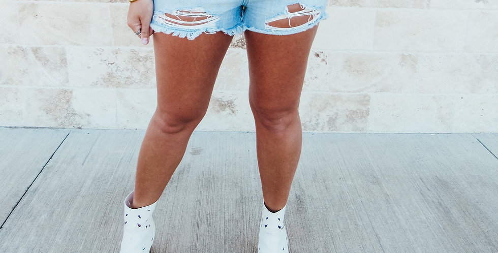 Hazel High Rise Mom Shorts
