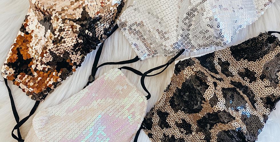 Sequin Glam Masks