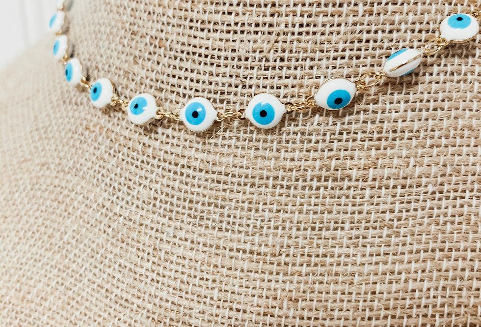 Turquoise Evil Eye Choker