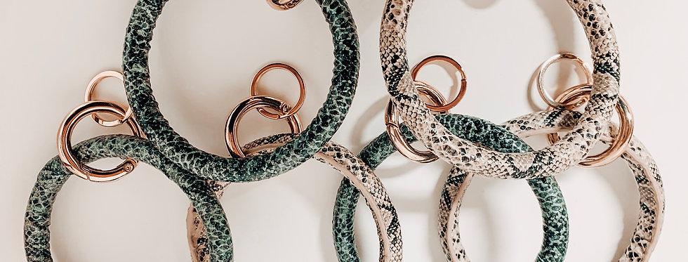 Snakeskin Key Rings