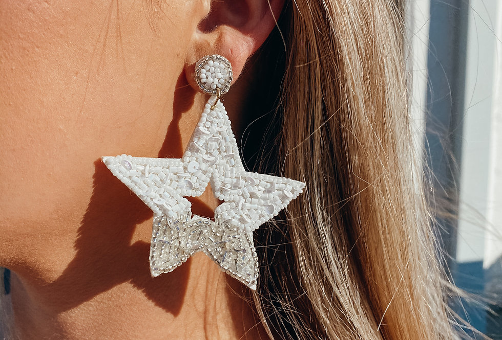 Starry Night Earrings - White
