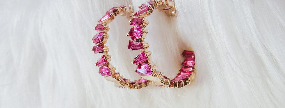 Be Mine Jewel Hoop Earrings