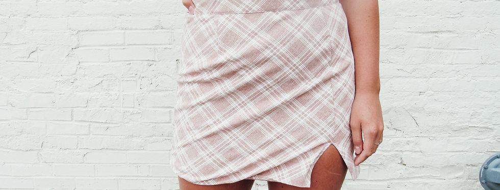 Workin' 9 to 5 Plaid Skirt