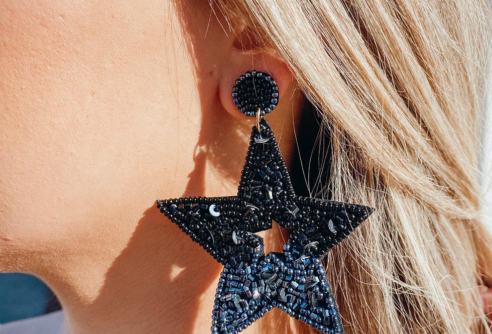 Starry Night Earrings - Black