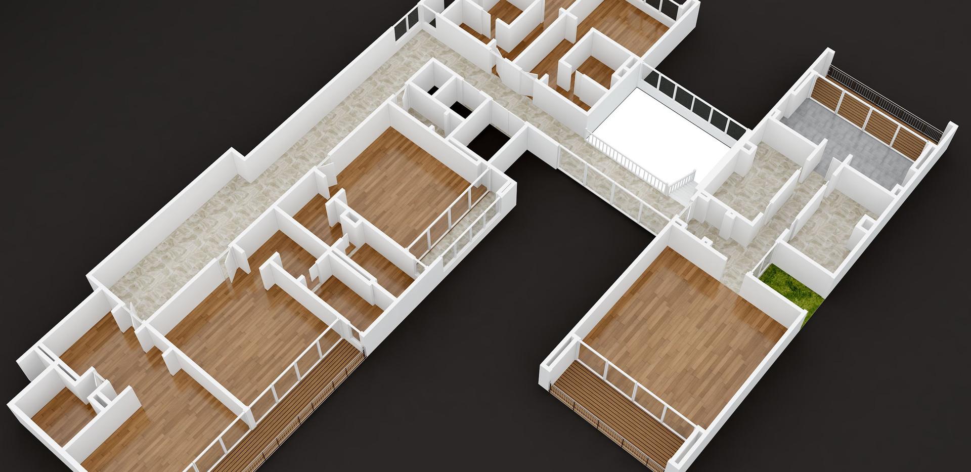 shamla_first floor_fix_3D  floor plan unfurniture