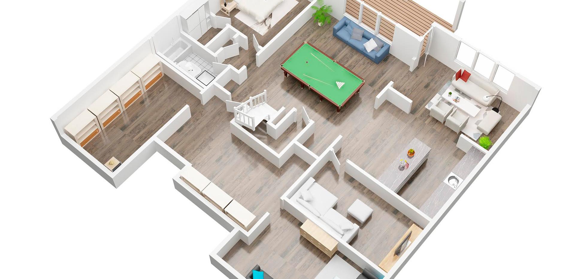 Leapfrogsales_basement_3D  floor plan