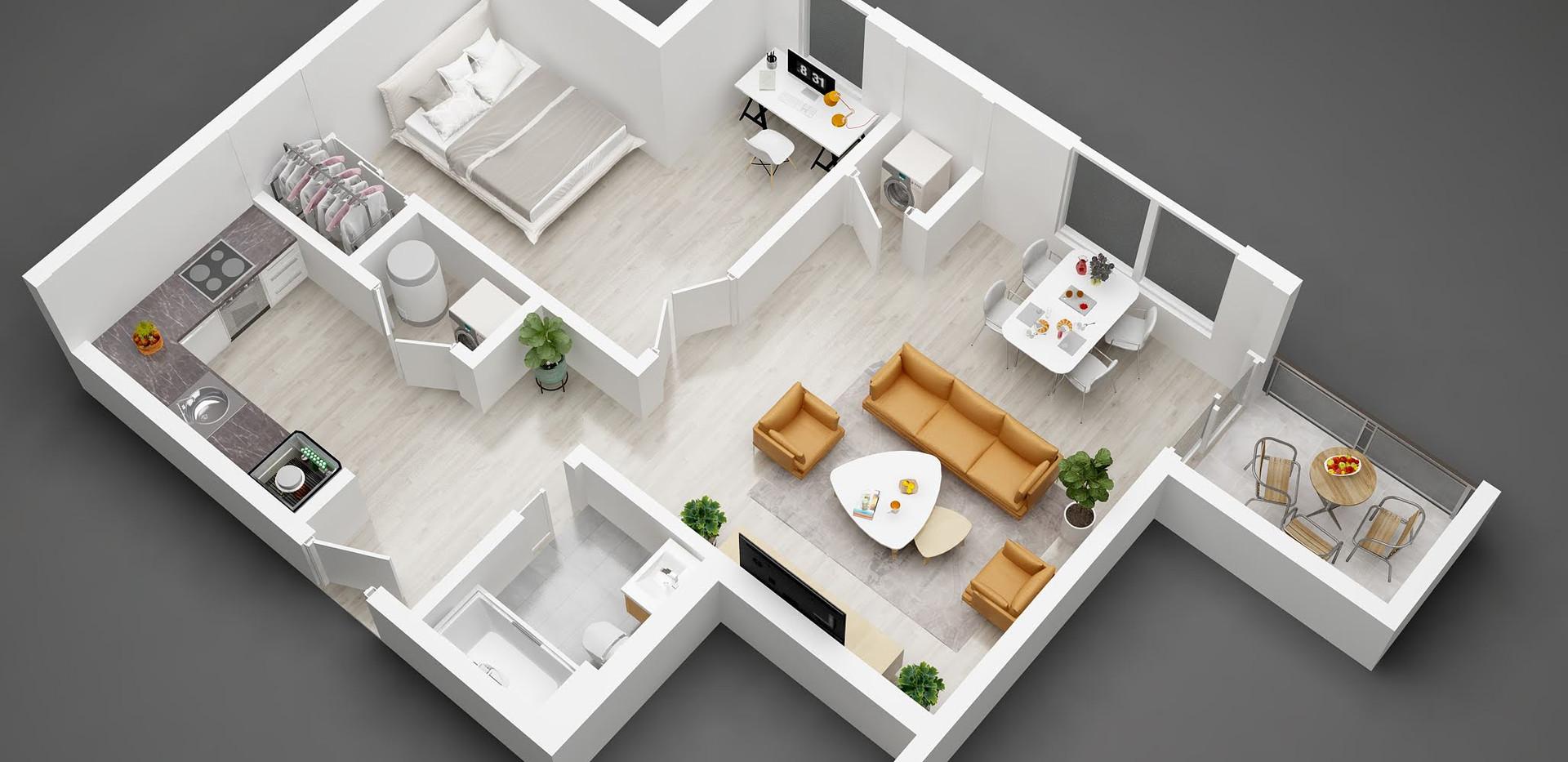 6 2_3D  floor plan