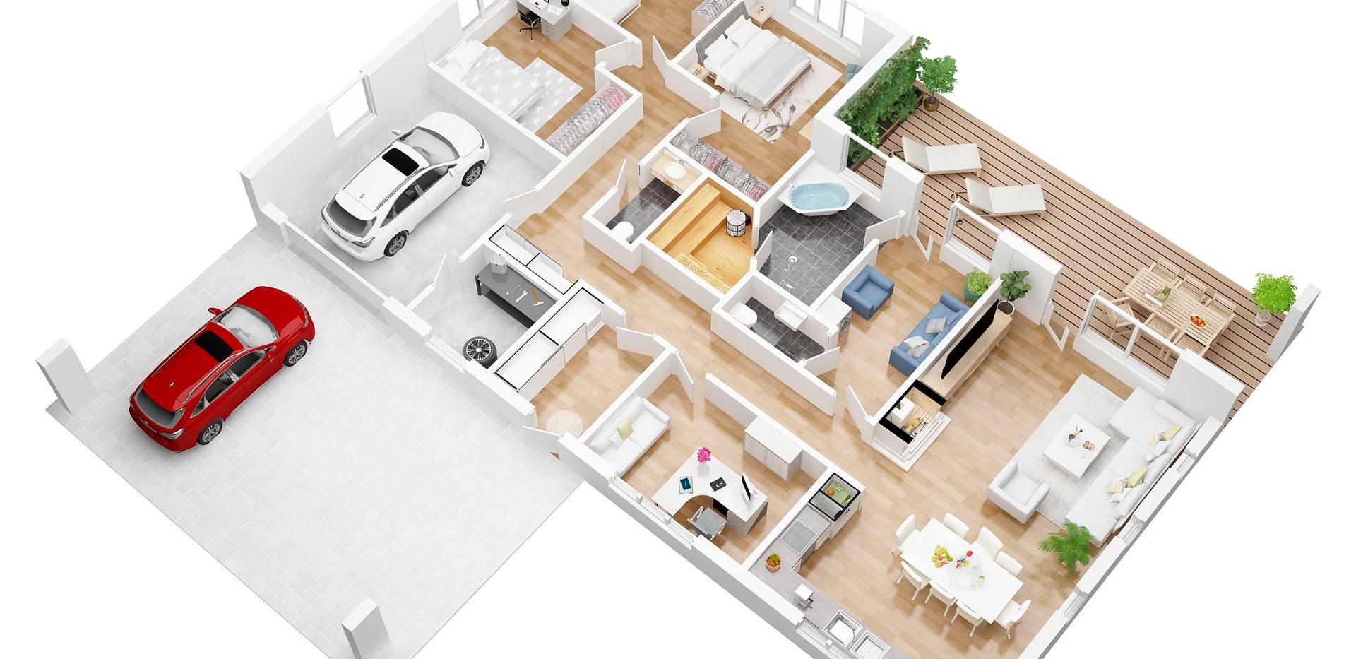 rihoOO_3D  floor plan