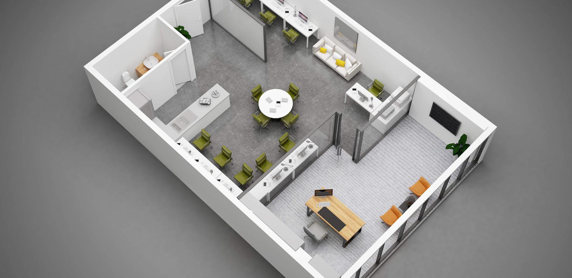 3D Floorplan office