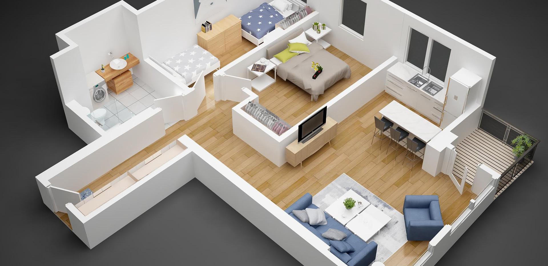 stan05_3D  floor plan