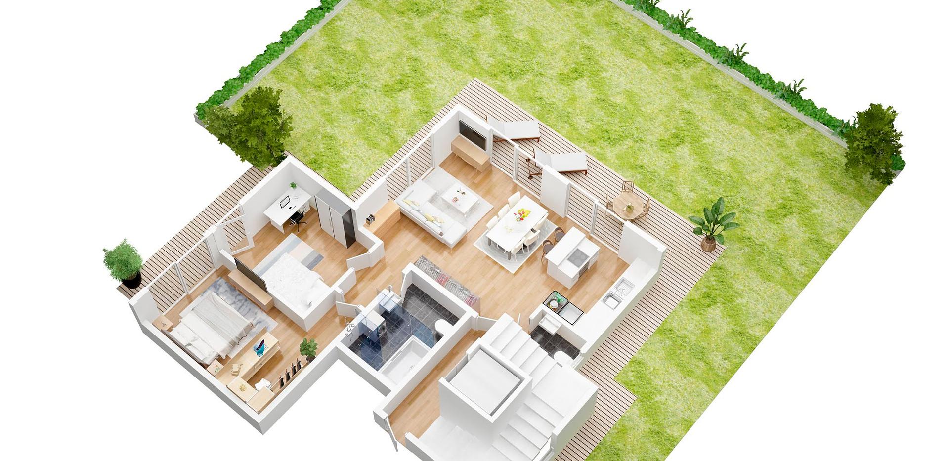 ruffy_extra_3D  floor plan garden