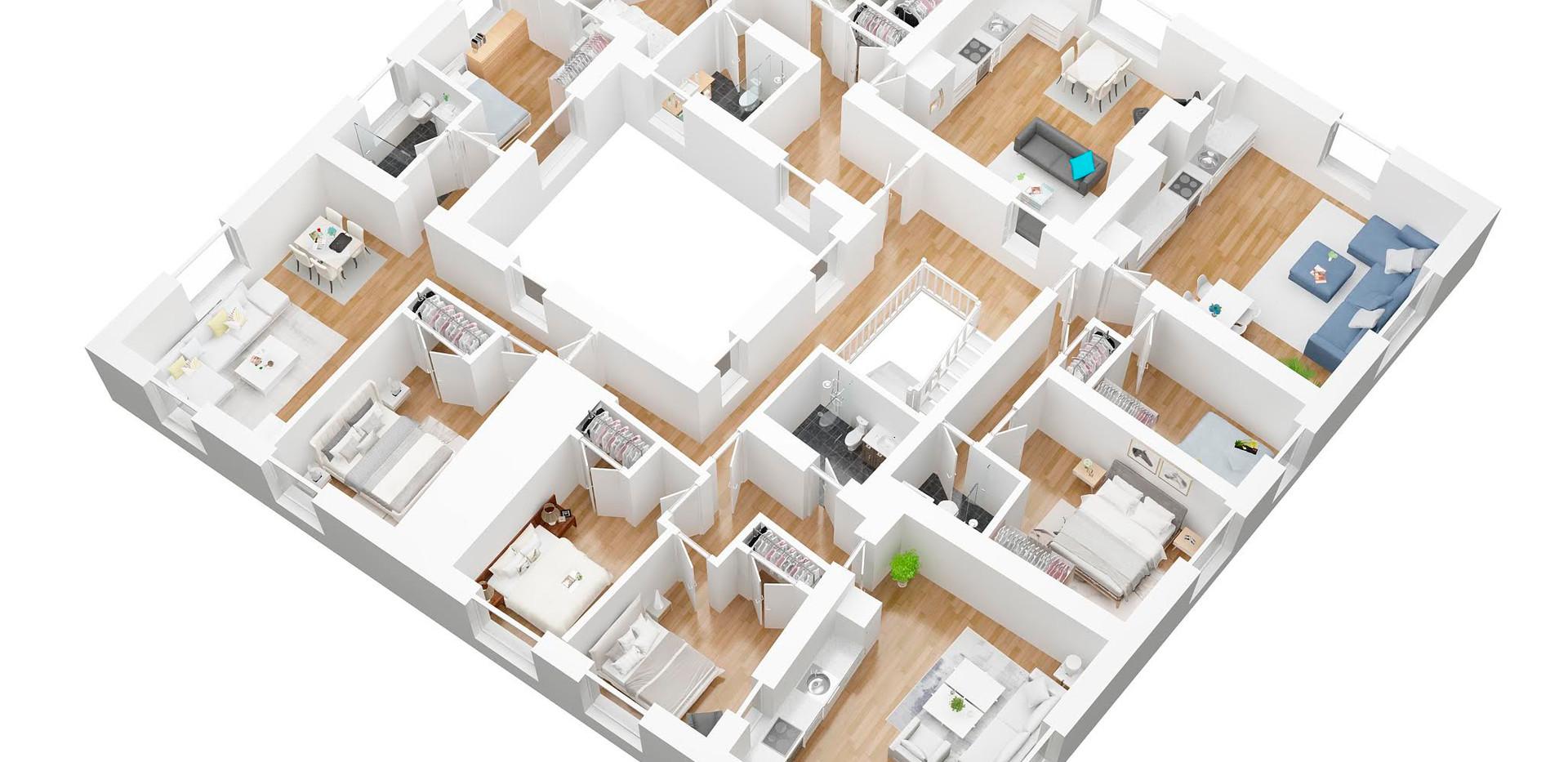 Victoriabk_2_3D  floor plan
