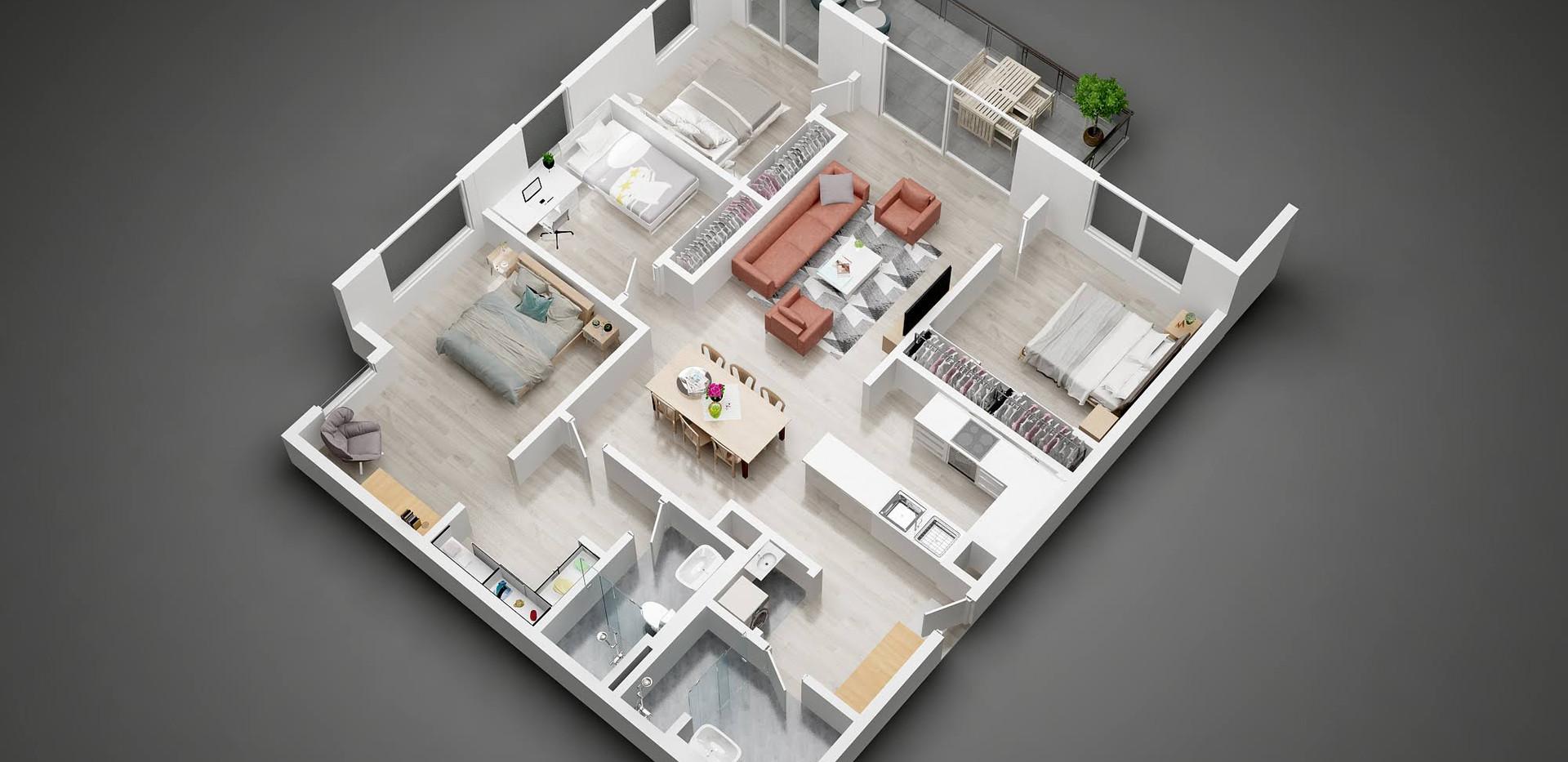 1408_3D  floor plan