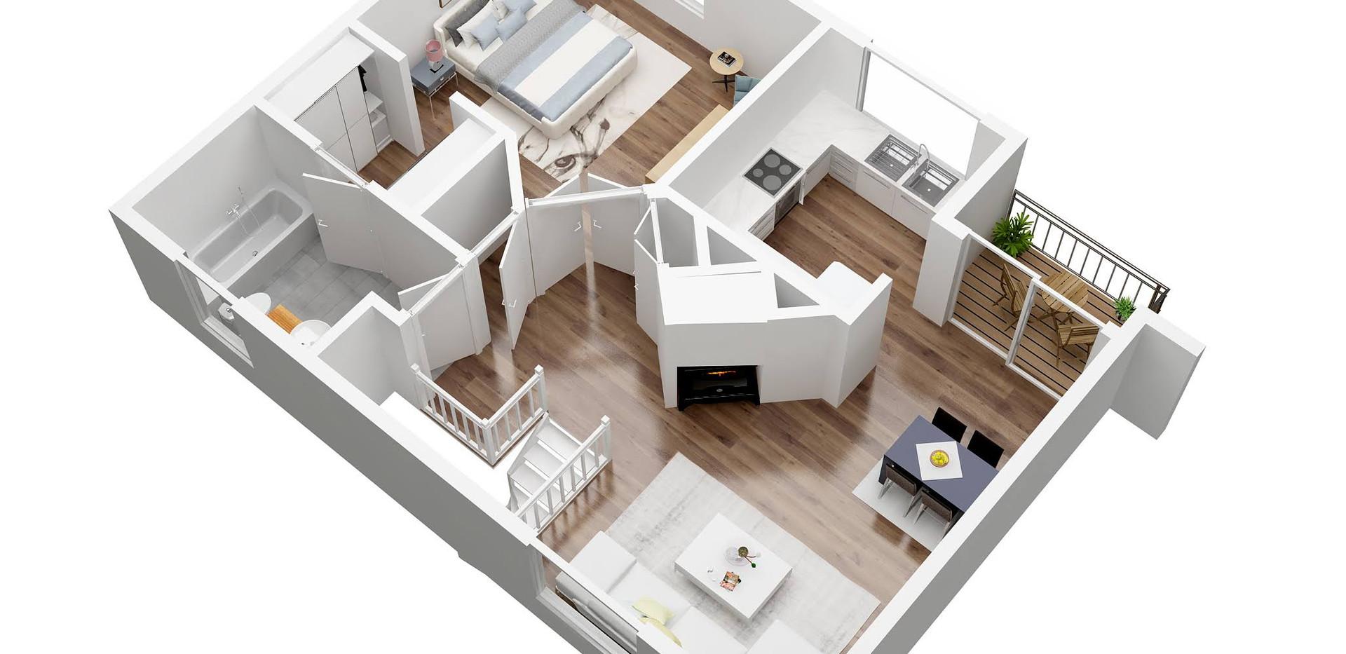juuleas_2_3D  floor plan