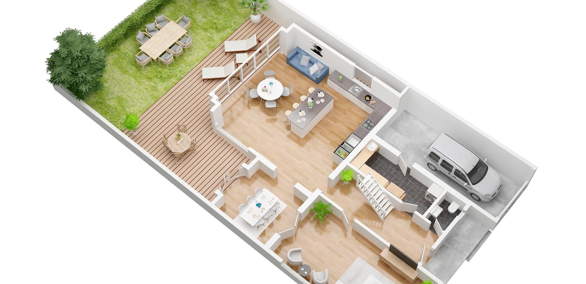 janusphotograph_Ground floor_3D  floor plan