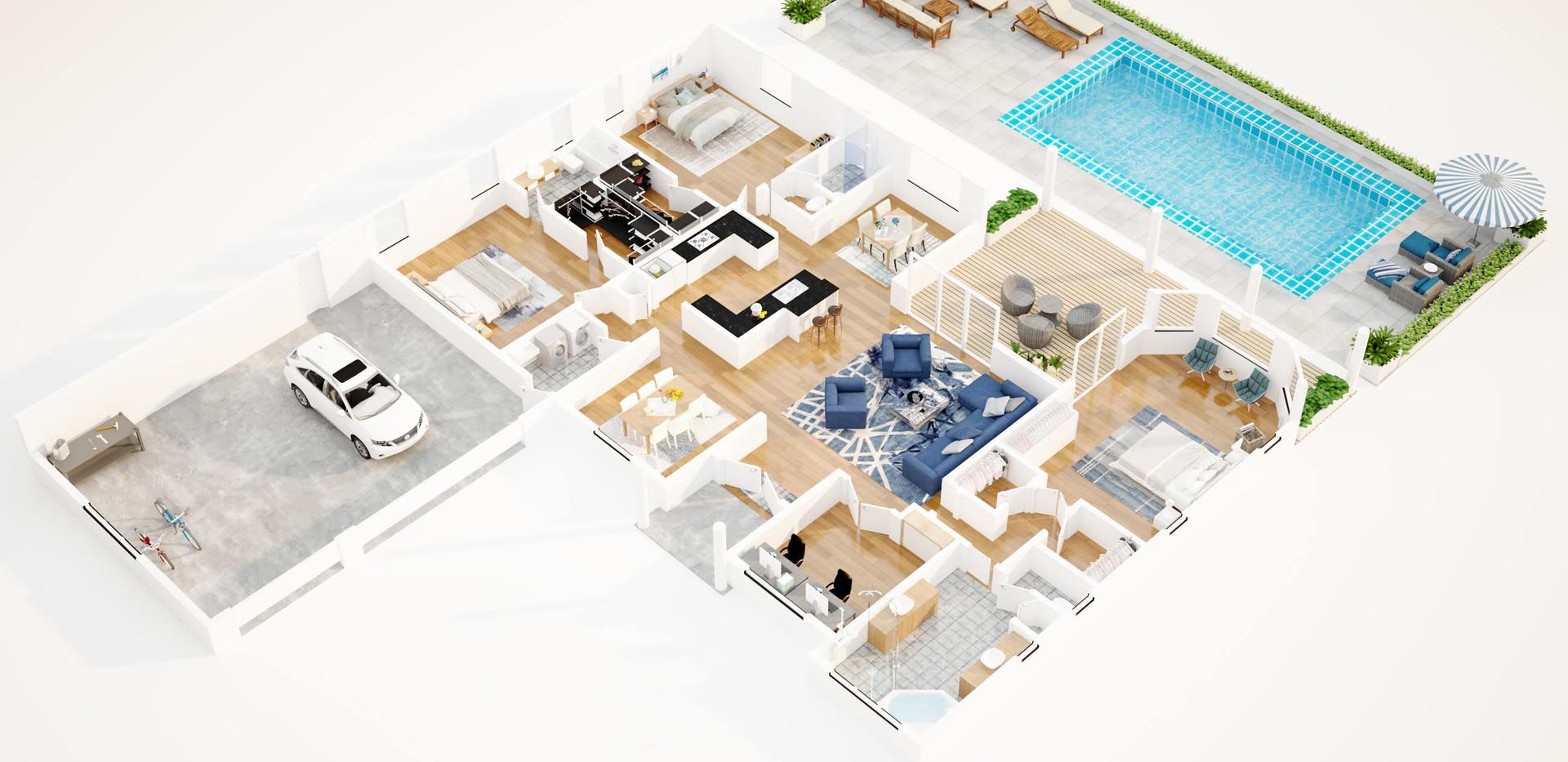 Tombythesea_3D floor plan villa