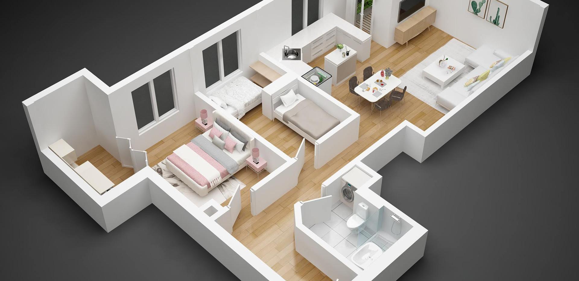 stan06_3D  floor plan