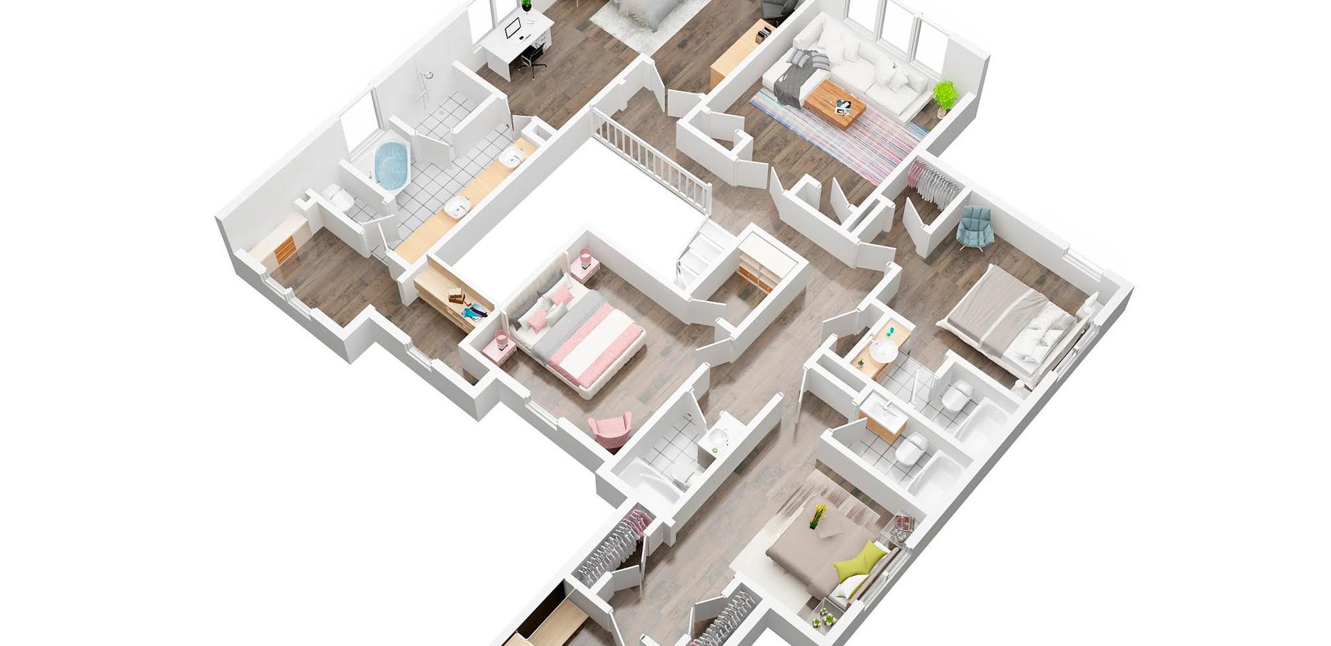 Leapfrogsales_2st floor_3D  floor plan