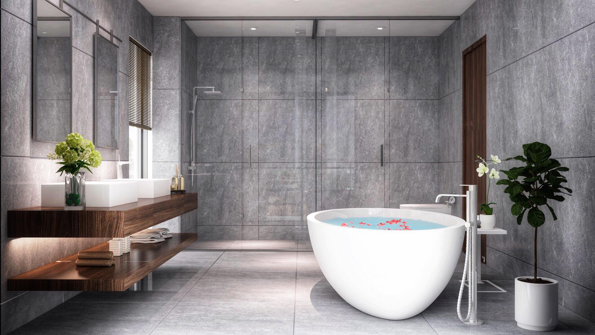 Bathroom rendering 2