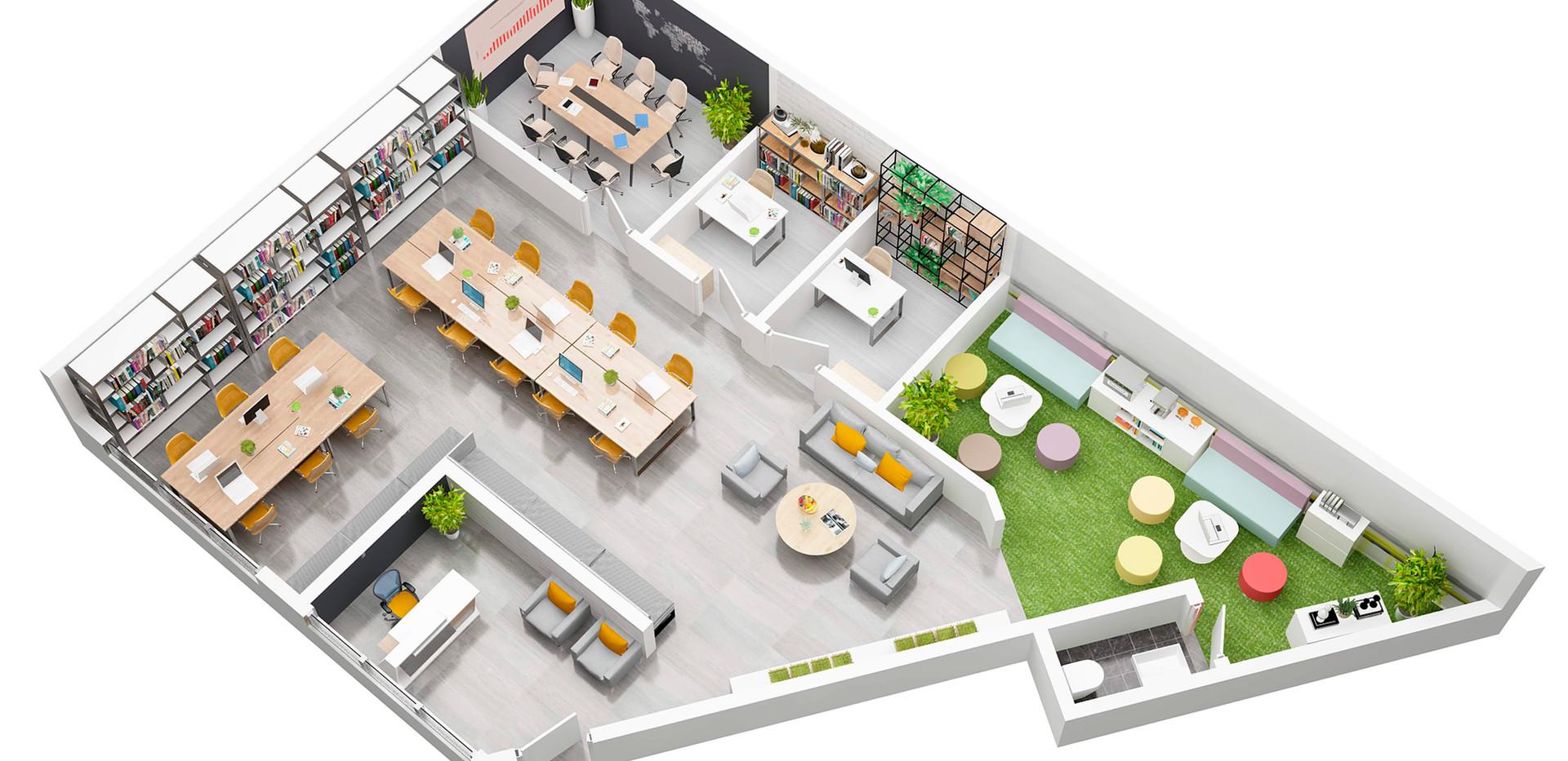 sanchef_3D Floorplan office