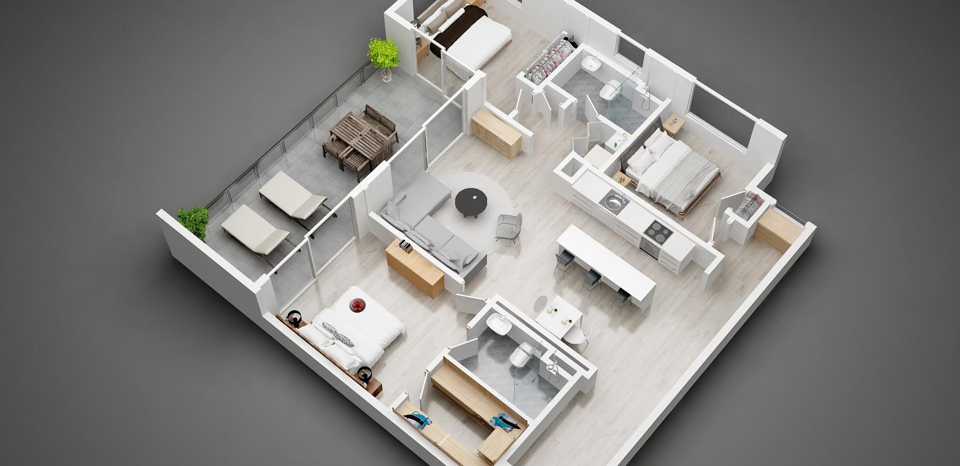 1501_3D  floor plan