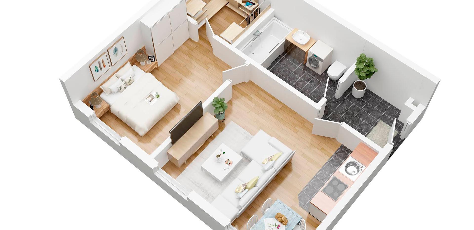 steinadlerat_6A_Perspective_3D  floor plan