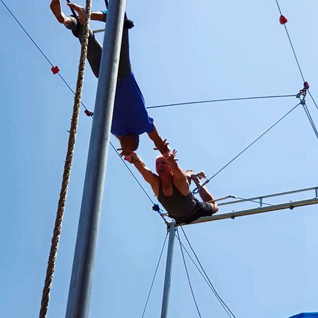 Family birthday party at the trapeze! Wa
