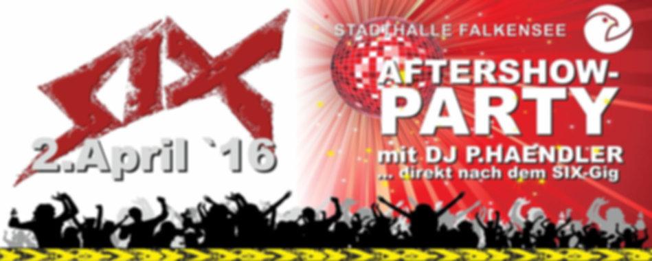 In der Stadhalle Falkensee mit DJ P.HAENDLER und der Rockband SIX I Sänger Stefan Krähe