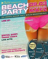 DJ P.HAENDLER auf der Redo Beachparty in der MAFZ Brandenburghalle