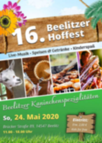 Beeliter Hoffest kaninchen beelitz spargelstadt beelitz