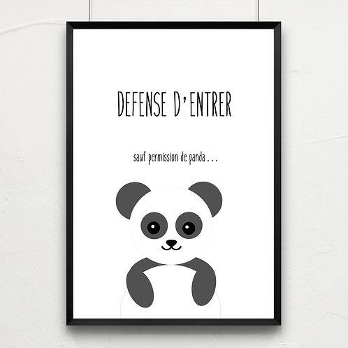 défense d'entrer... panda