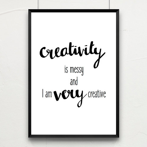 creativity is messy...