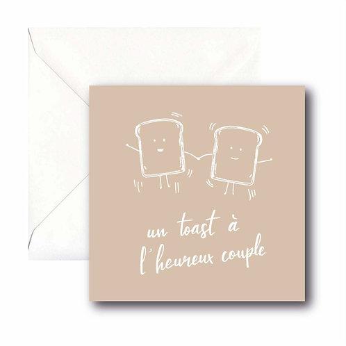 un toast à l'heureux couple