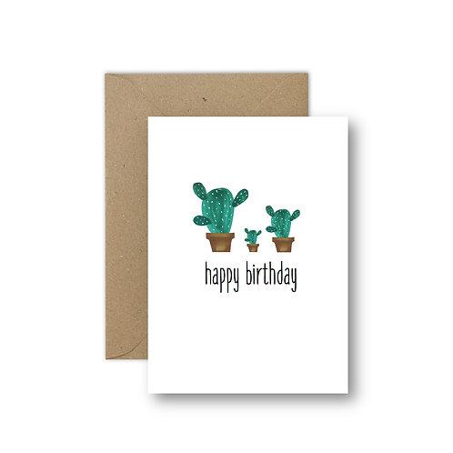 happy birthday (cactus)