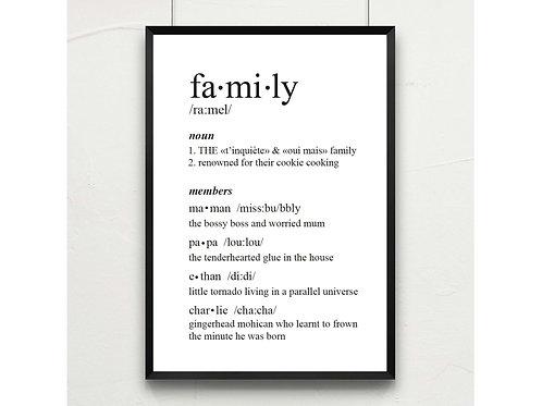 family * à personnaliser