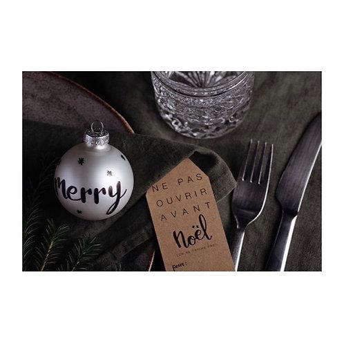 boule de Noël à personnaliser