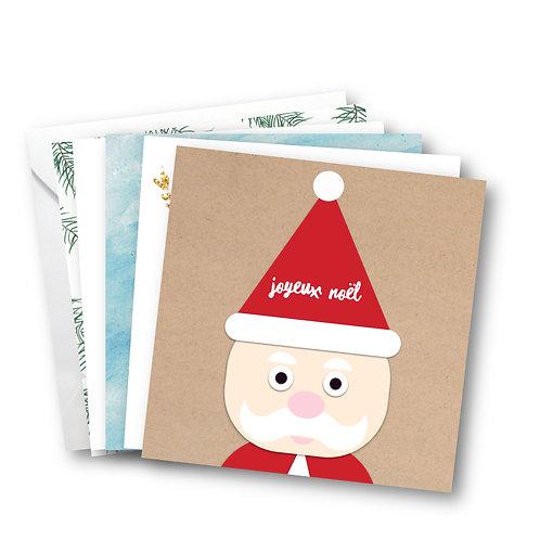 cartes de Noël - pack de 5