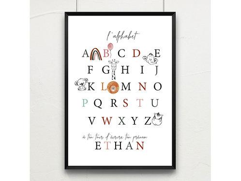 l'alphabet * à personnaliser