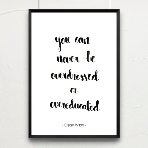 you can never be overdressed...