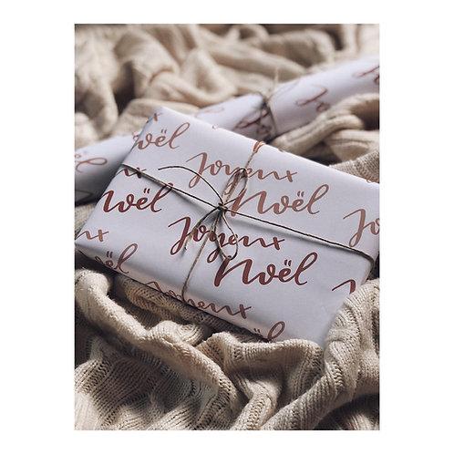 """papier cadeau  """"joyeux noël"""""""