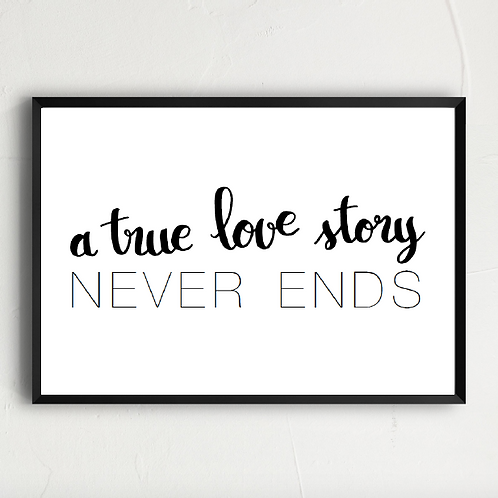 a true love story...