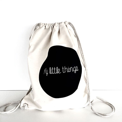 "drawstring tote bag ""my little things"""