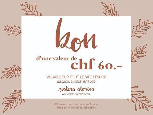 BON CHF 60.-