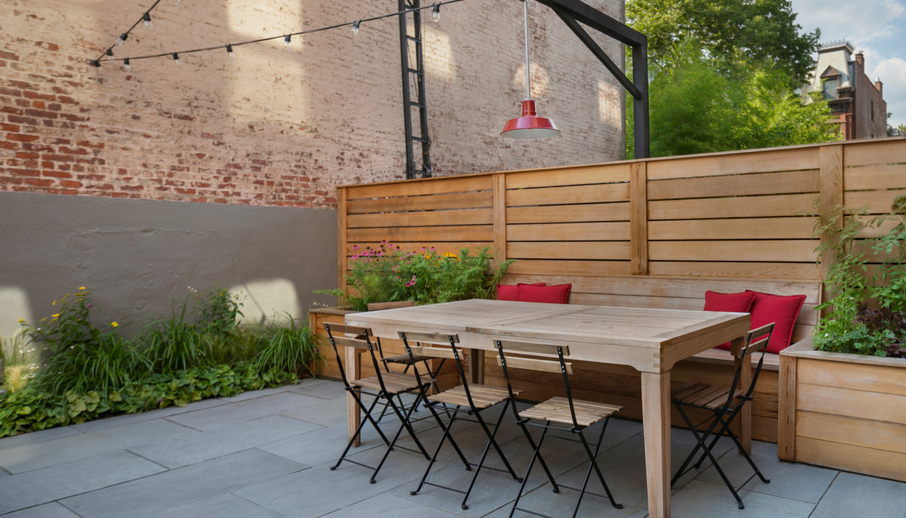 Staghorn NYC Brooklyn Brownstone Backyard Landscape