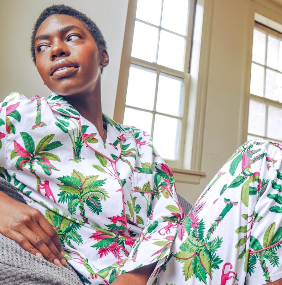 Gorgeous palm tree pajamas from printfresh.