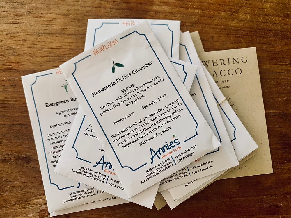 Seeds packets share very helpful (and crucial) information for best practices for planting and care.