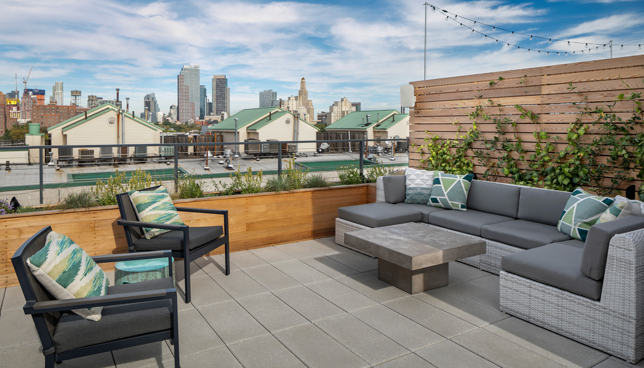 Staghorn Modern Brooklyn Rooftop Garden