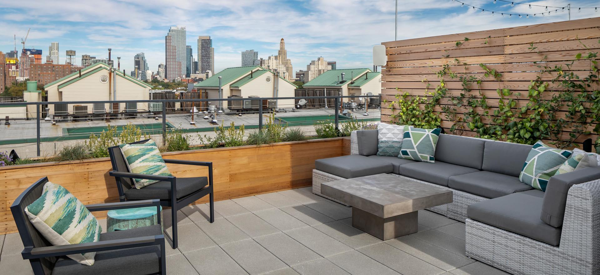 Staghorn Modern Brooklyn Rooftop Garden